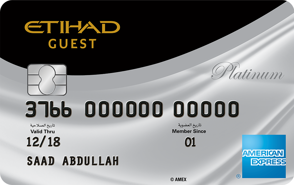 The Etihad Guest American Express® Platinum Credit Card